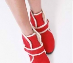 PRE-ORDER:   Fashion Suede Boots Red